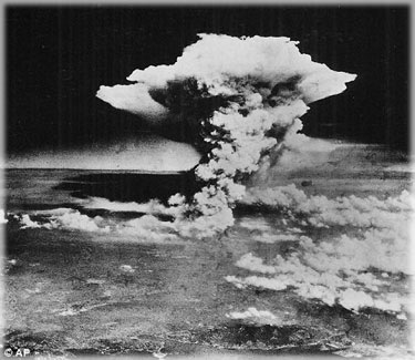 The atomic bombing of Hiroshima.